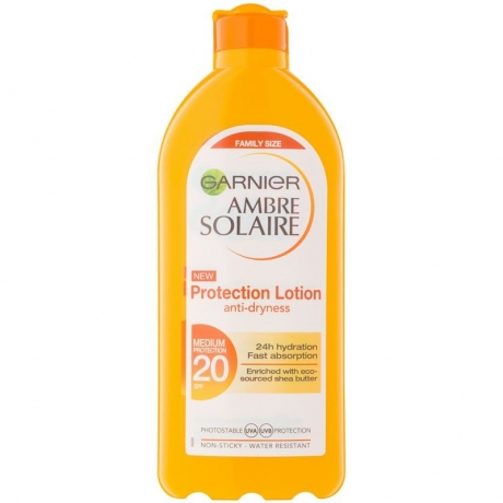 Garnier Ambre Solaire Protection Lotion anty-dryness family size слънцезащитен лосион SPF20 - 400 мл